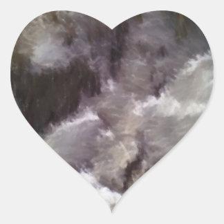 Diverso arte extraño pegatina en forma de corazón