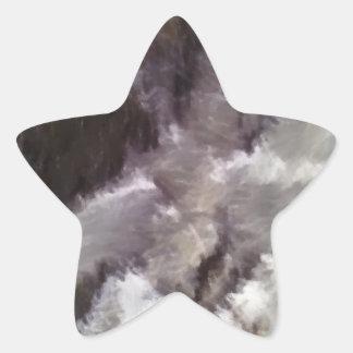 Diverso arte extraño pegatina en forma de estrella