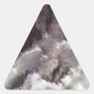 Diverso arte extraño pegatina triangular