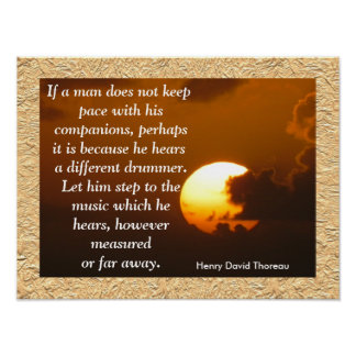 Diverso batería - poster de la cita de Thoreau Póster