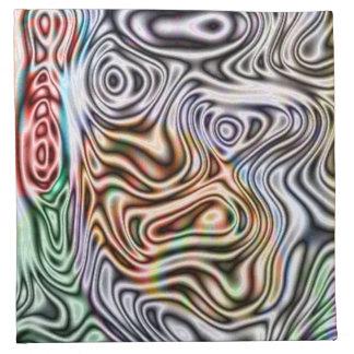 Diverso modelo abstracto servilleta de papel