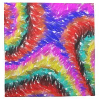 Diverso modelo extraño colorido servilletas