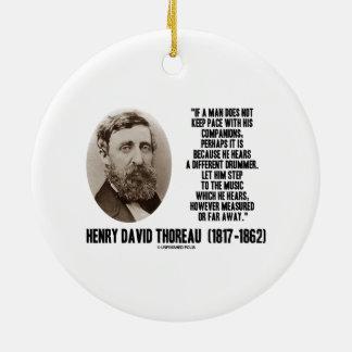 Diverso paso del batería de Thoreau a la música Adorno Navideño Redondo De Cerámica