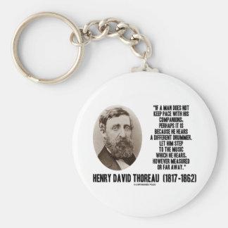 Diverso paso del batería de Thoreau a la música Llavero Redondo Tipo Pin