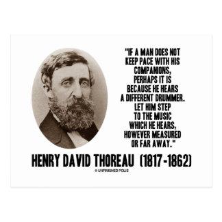 Diverso paso del batería de Thoreau a la música Postales