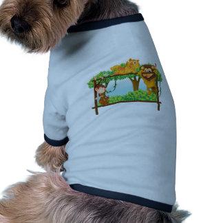 diversos animales camiseta con mangas para perro