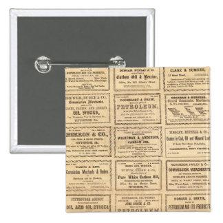 Diversos anuncios del aceite pin cuadrada 5 cm