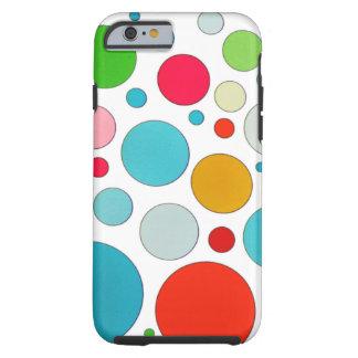 Diversos burbujas y lunares lindos frescos del funda de iPhone 6 tough