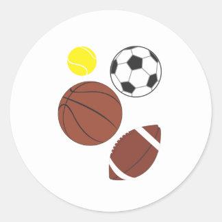 Diversos pegatinas de las bolas de los deportes