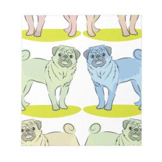 Diversos perros coloreados RETROS del barro amasad Bloc