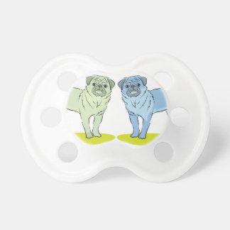 Diversos perros coloreados RETROS del barro amasad Chupetes Para Bebés