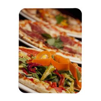 Diversos pizza y desmoches iman de vinilo