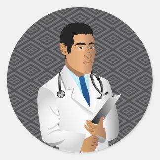 Diversos productos para los campos médicos o de la pegatina redonda
