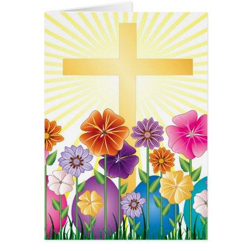 Diversos productos para Pascua Felicitación