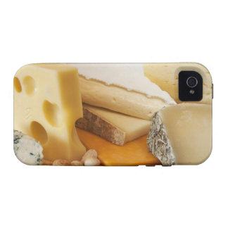 Diversos quesos en la tajadera Case-Mate iPhone 4 carcasas