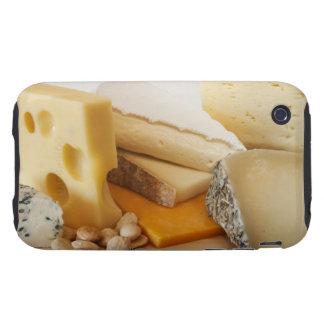 Diversos quesos en la tajadera iPhone 3 tough fundas