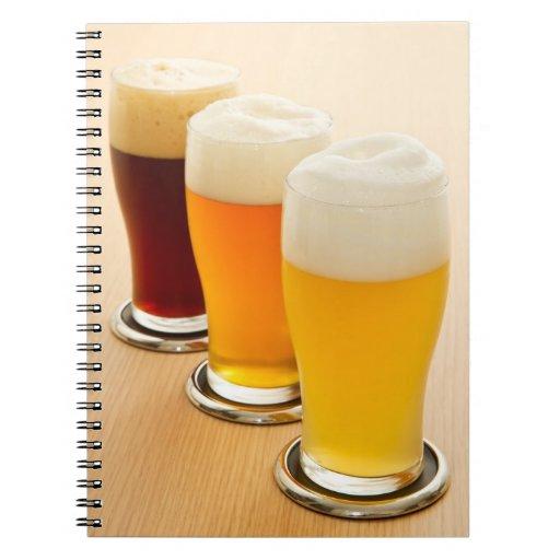 Diversos tipos de cerveza cuaderno