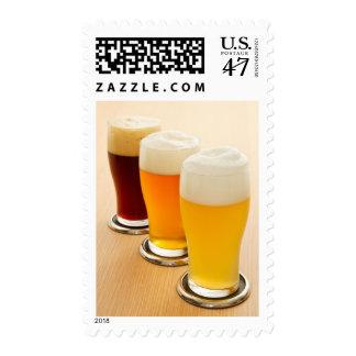 Diversos tipos de cerveza estampillas