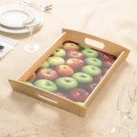 Diversos tipos de manzanas bandeja