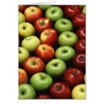 Diversos tipos de manzanas felicitacion