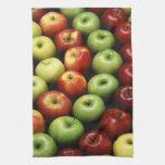 Diversos tipos de manzanas toallas de mano