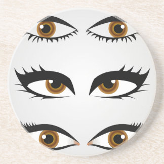 Diversos tipos de ojos para mujer portavasos