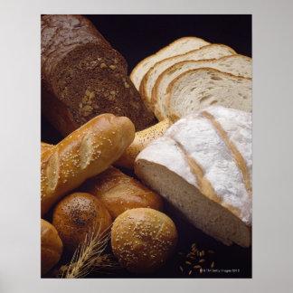Diversos tipos de pan del artesano impresiones