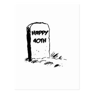 "Divertido, ""40.a"" lápida mortuaria feliz postal"