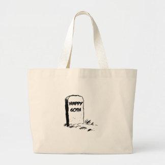 """Divertido, """"60.o"""" diseño feliz de la lápida mortua bolsas lienzo"""
