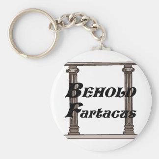 Divertido behold el regalo del fartacus llavero personalizado