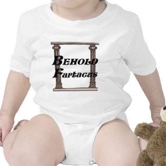 Divertido behold el regalo del fartacus traje de bebé
