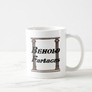 Divertido behold el regalo del fartacus taza de café