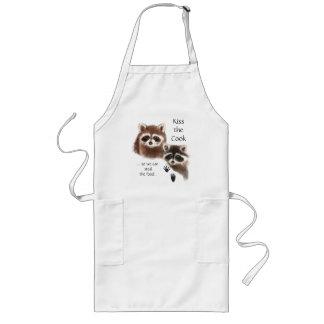 Divertido, bese el delantal del mapache del cocine