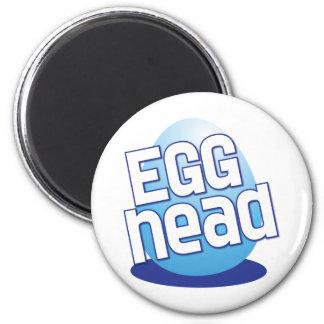 divertido calvo principal de pascua del huevo imán redondo 5 cm