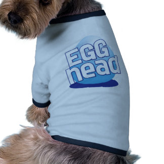 divertido calvo principal de pascua del huevo camiseta con mangas para perro