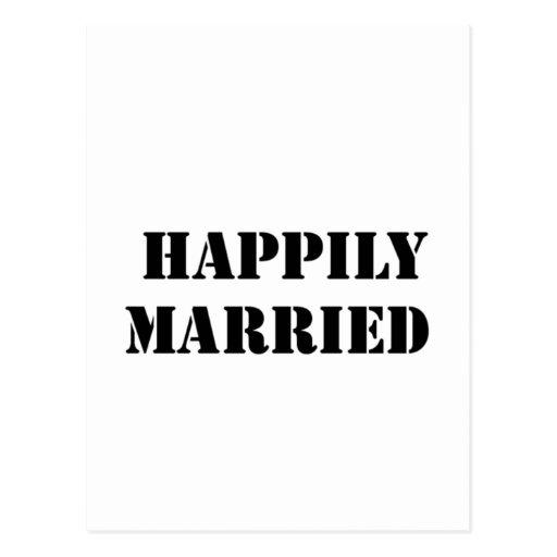 divertido casada postal
