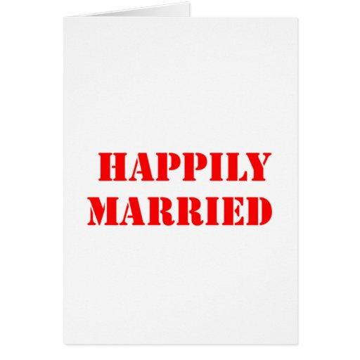 divertido casada tarjeta de felicitación