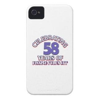Divertido celebrando 58 años de infierno de iPhone 4 Case-Mate cobertura