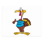 divertido coma el dibujo animado del pavo de la ca postal