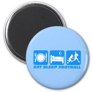 Divertido coma el fútbol del sueño imán redondo 5 cm