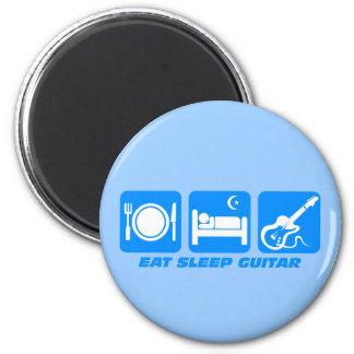 Divertido coma la guitarra del sueño imán para frigorifico