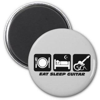 Divertido coma la guitarra del sueño imán redondo 5 cm