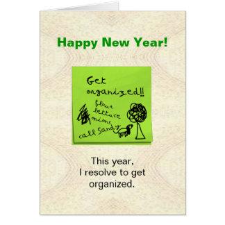 Divertido consiga a resolución organizada la tarjeta de felicitación