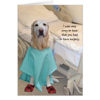 Divertido consiga el laboratorio bien en vestido tarjeta de felicitación