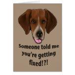 Divertido consiga la tarjeta bien para los perros