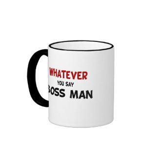 Divertido cualquier taza del hombre de Boss