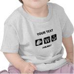 Divertido de encargo usted camiseta del niño del a
