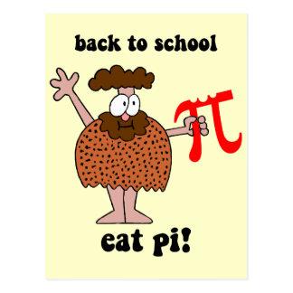 Divertido de nuevo a matemáticas de la escuela tarjeta postal