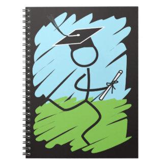 © divertido del corredor de la graduación - campo libros de apuntes