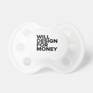Divertido diseñará para el dinero chupetes
